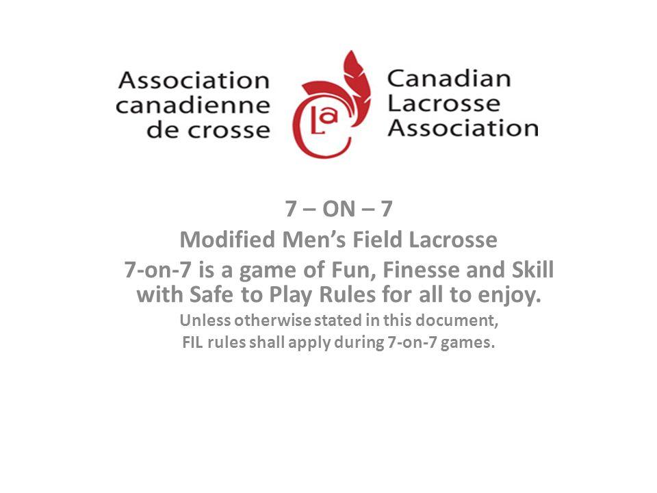 Modified Men's Field Lacrosse
