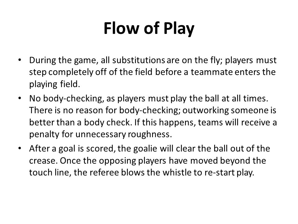 Flow of Play