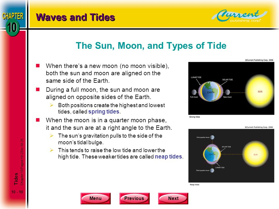 The Sun, Moon, and Types of Tide