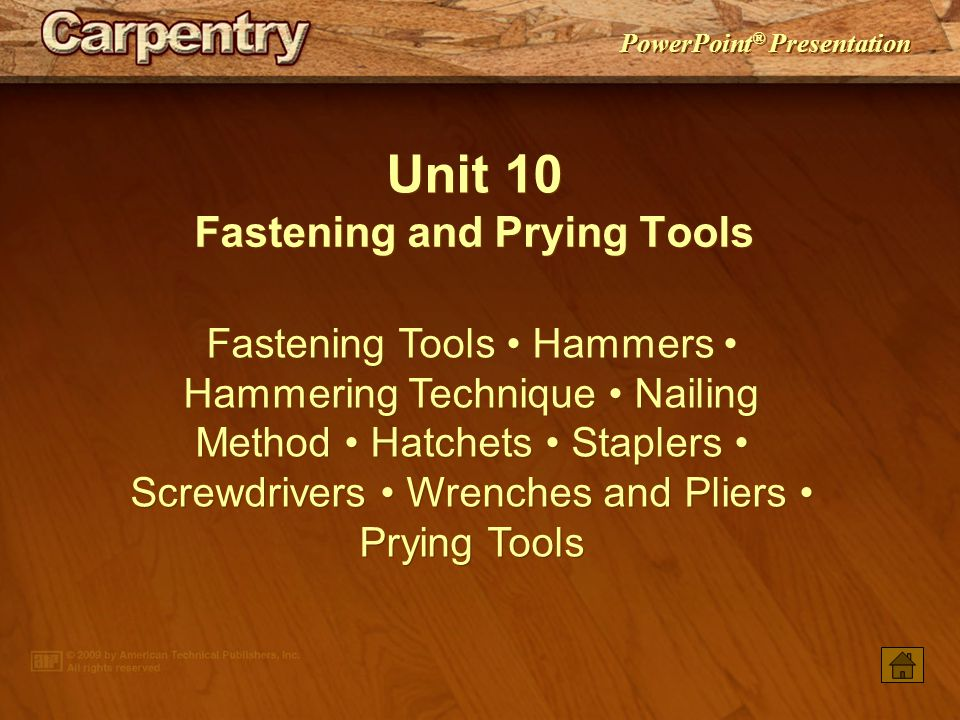 Fastening and Prying Tools