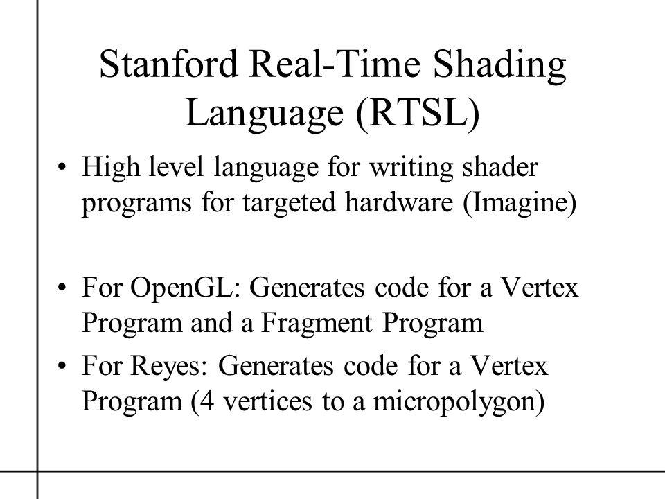 Stanford Real-Time Shading Language (RTSL)