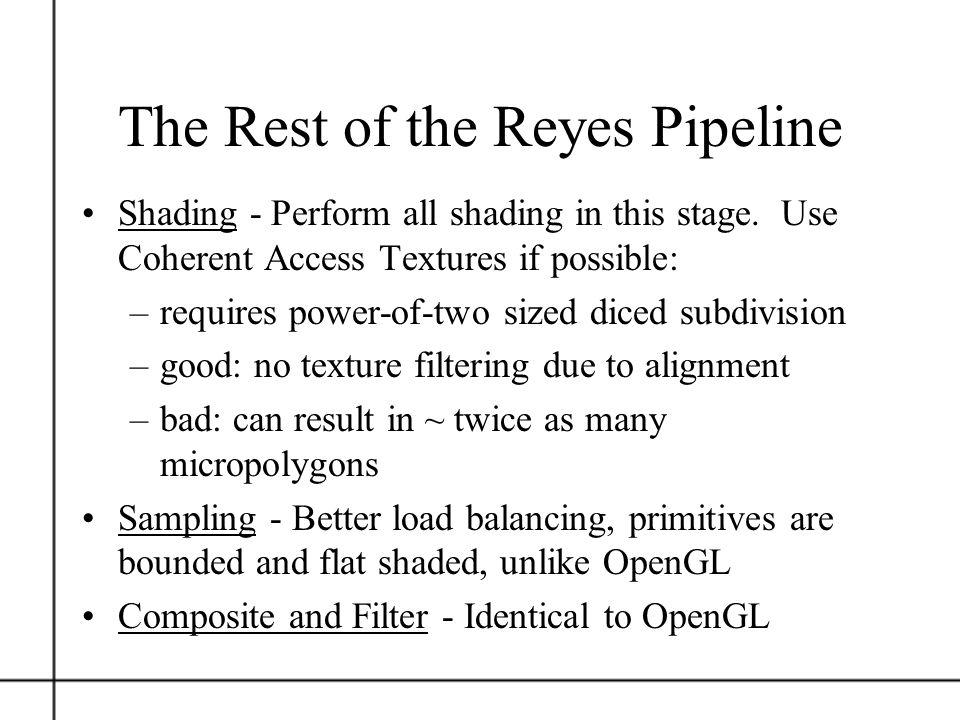 The Rest of the Reyes Pipeline
