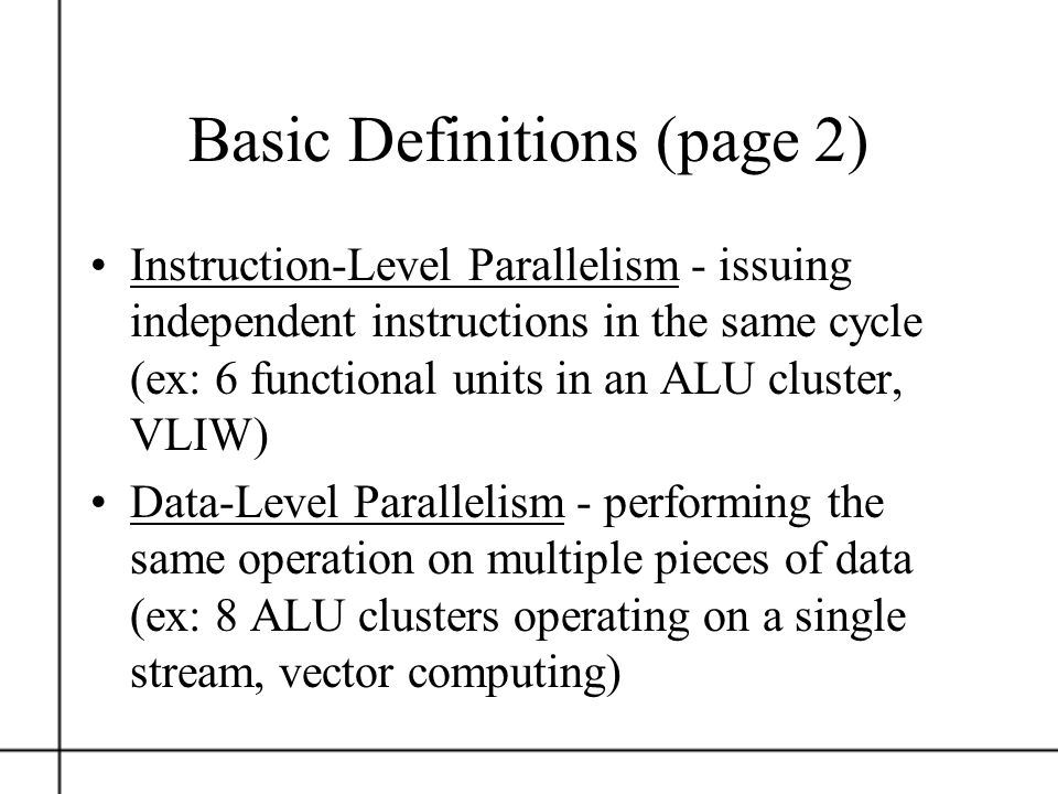 Basic Definitions (page 2)