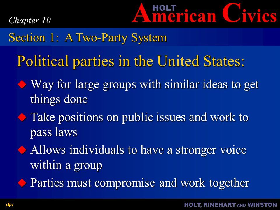 Political parties in the United States: