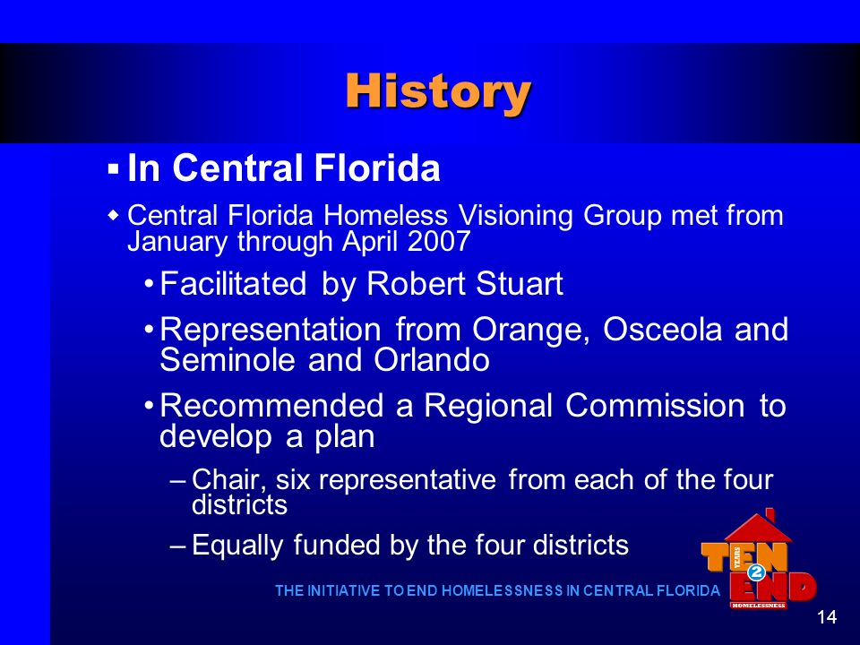 History In Central Florida Facilitated by Robert Stuart