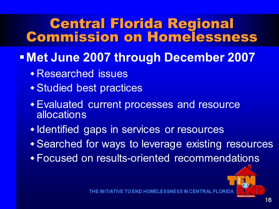 Central Florida Regional Commission on Homelessness