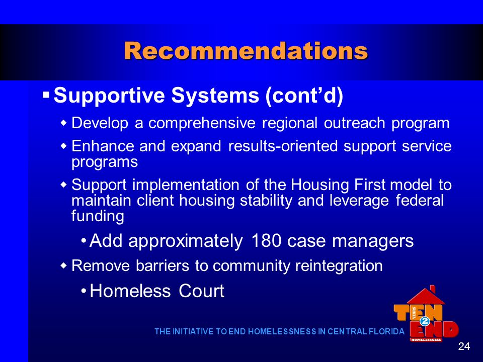 Recommendations Supportive Systems (cont'd)