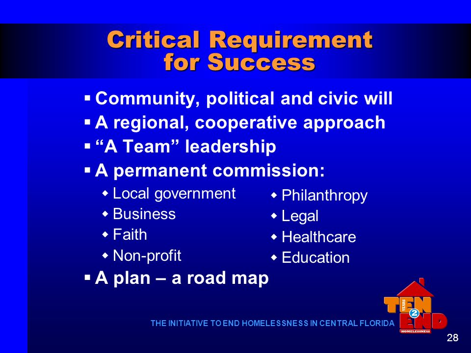 Critical Requirement for Success