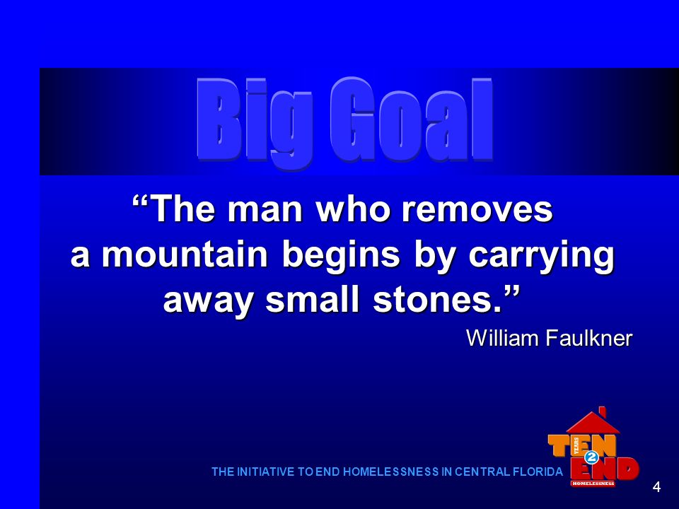 The man who removes a mountain begins by carrying away small stones.