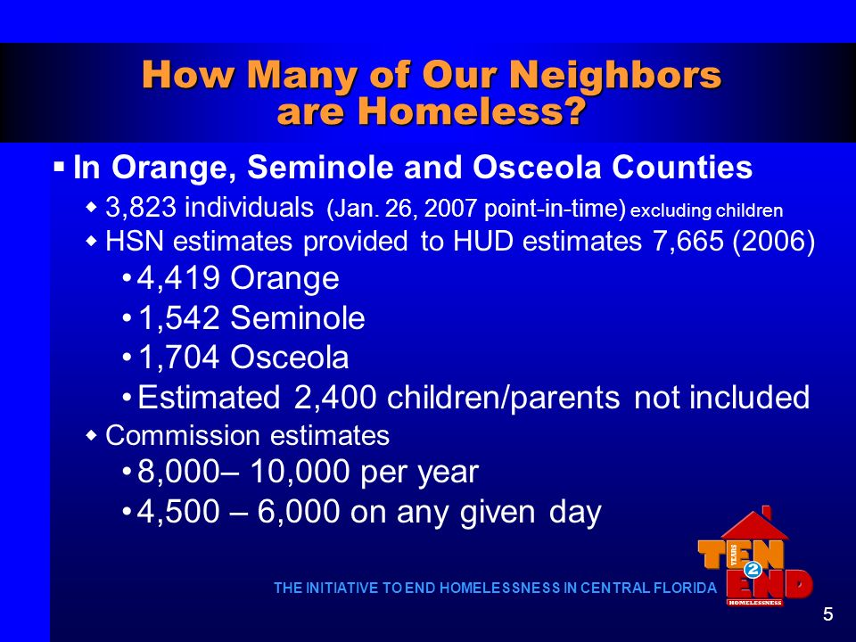 How Many of Our Neighbors are Homeless