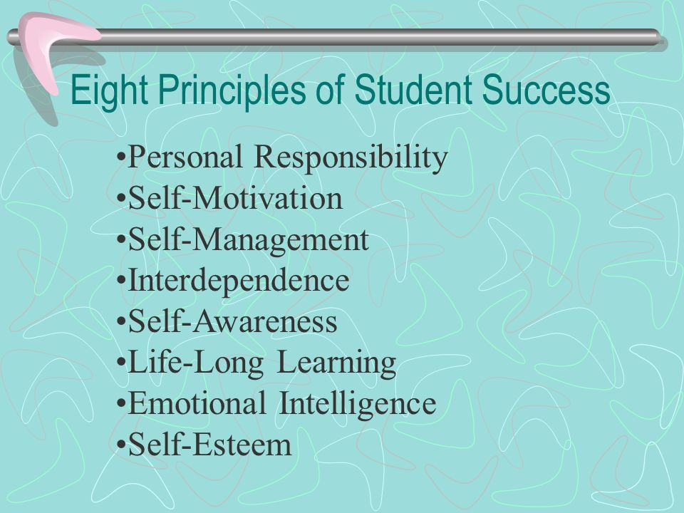 Eight Principles of Student Success
