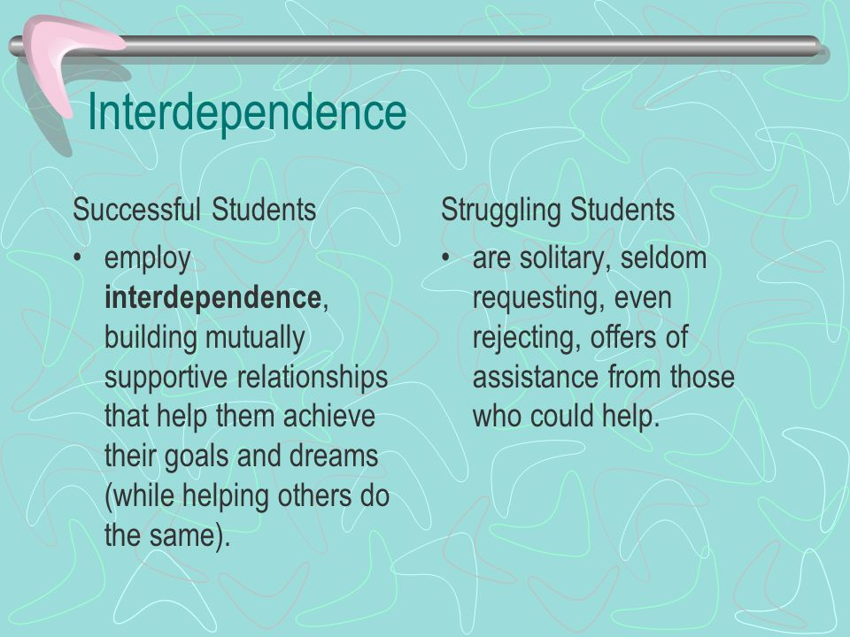 Interdependence Successful Students
