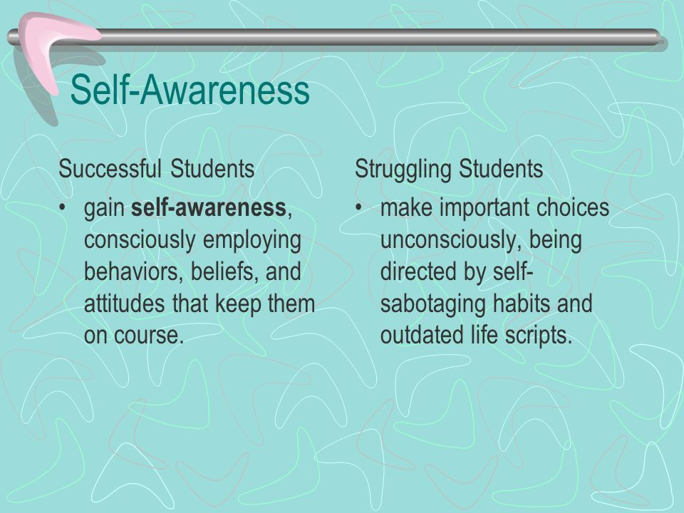 Self-Awareness Successful Students