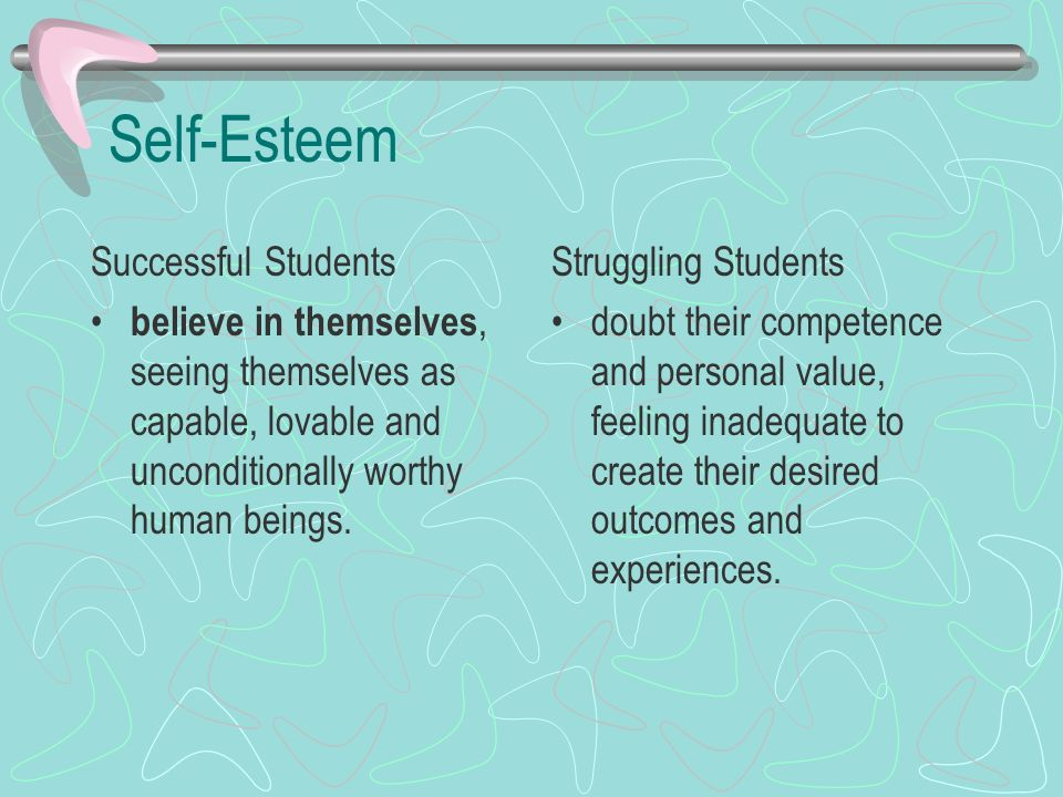 Self-Esteem Successful Students