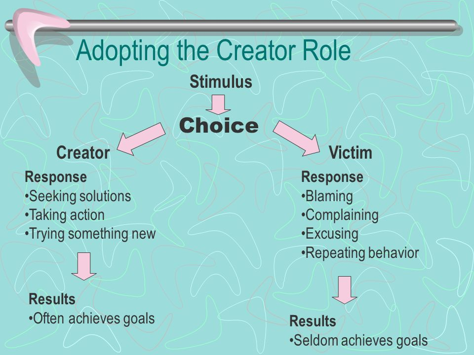 Adopting the Creator Role