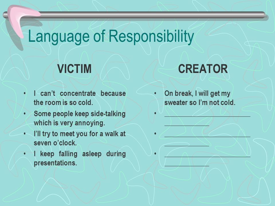 Language of Responsibility