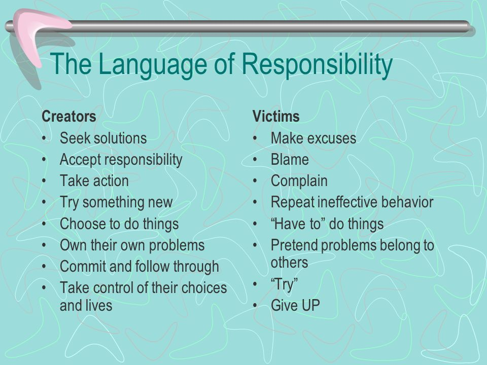 The Language of Responsibility