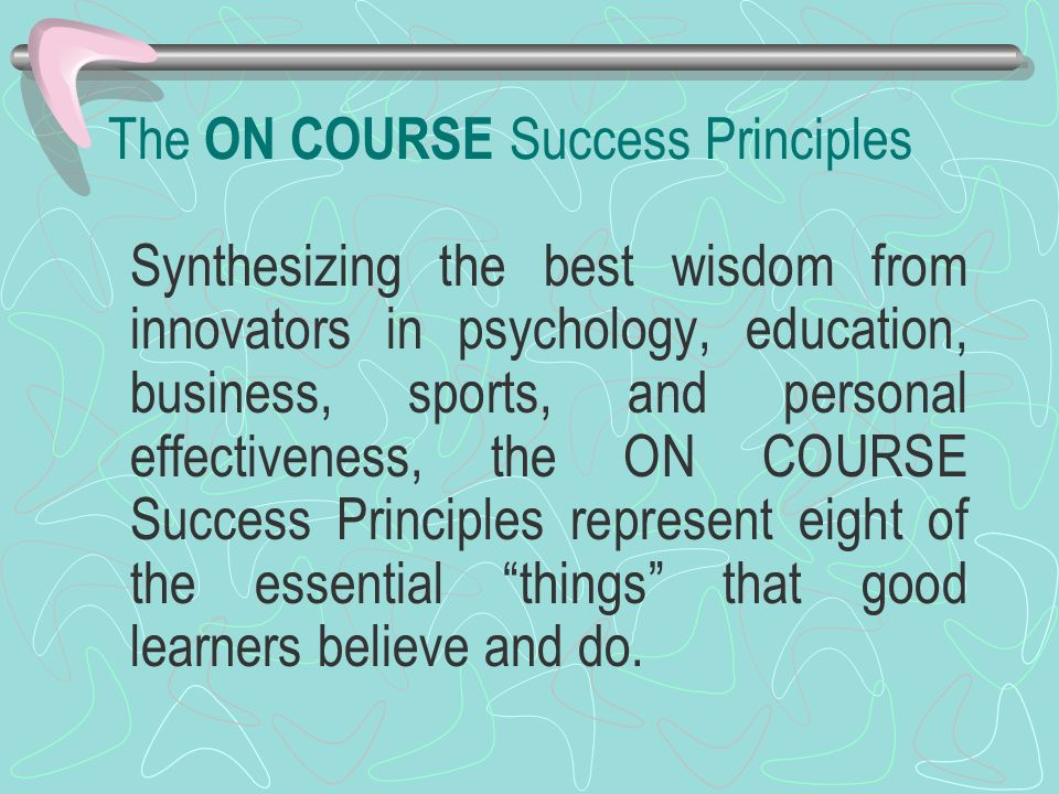 The ON COURSE Success Principles