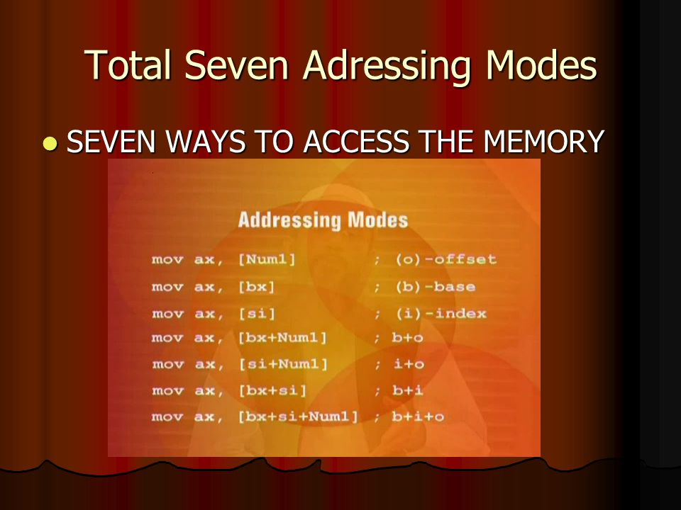 Total Seven Adressing Modes