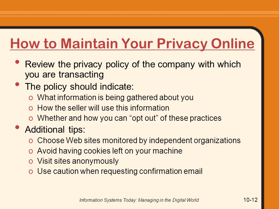 How to Maintain Your Privacy Online