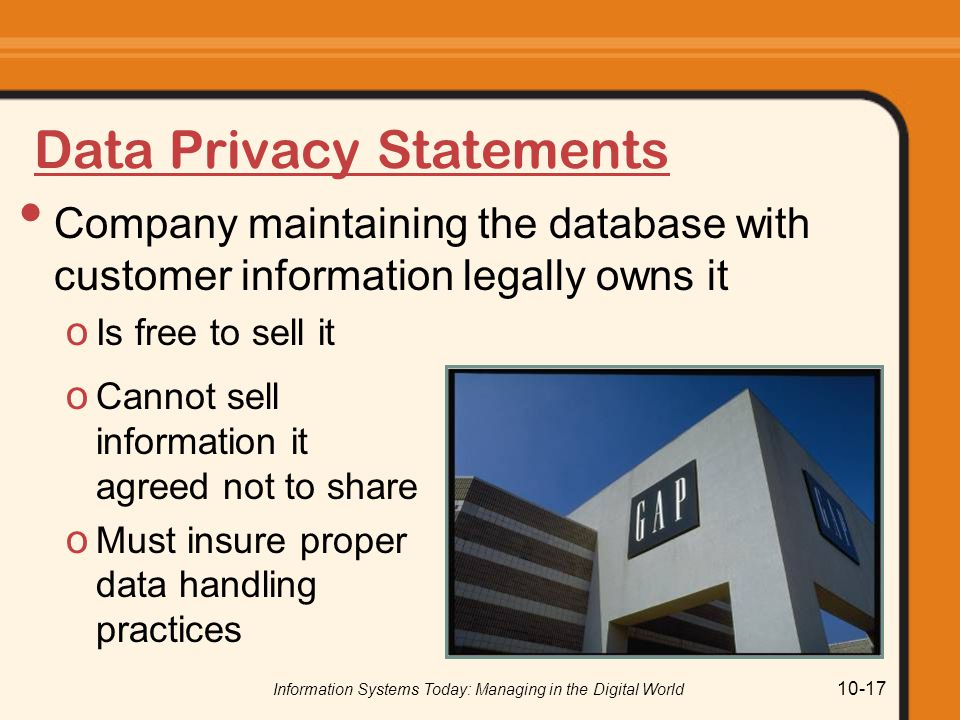 Data Privacy Statements