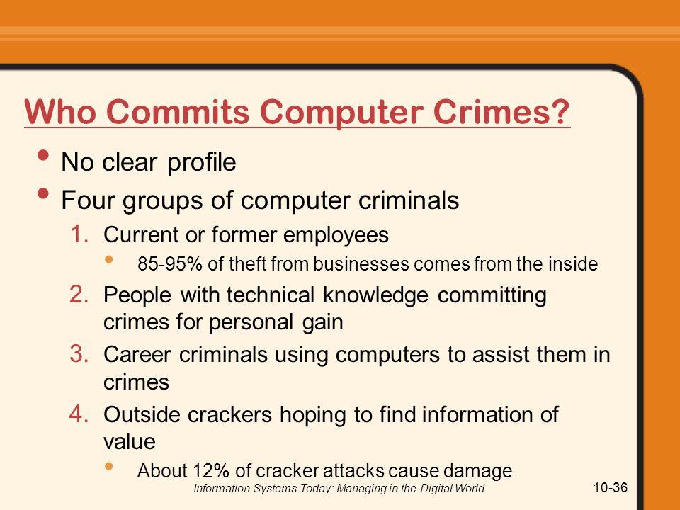 Who Commits Computer Crimes