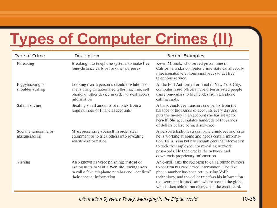 Types of Computer Crimes (II)