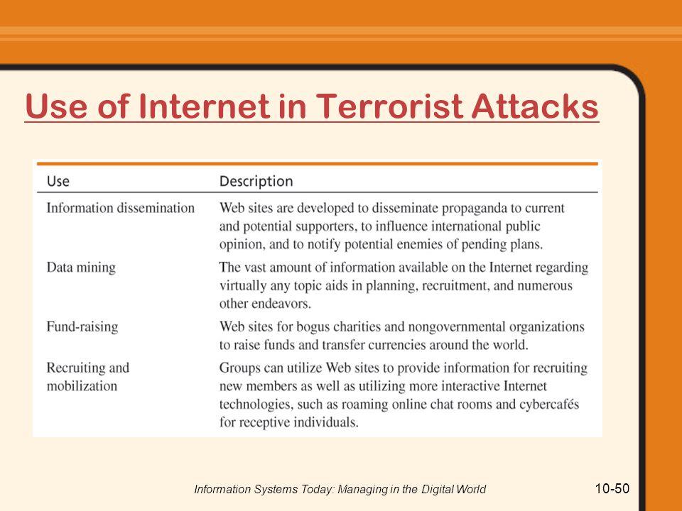 Use of Internet in Terrorist Attacks