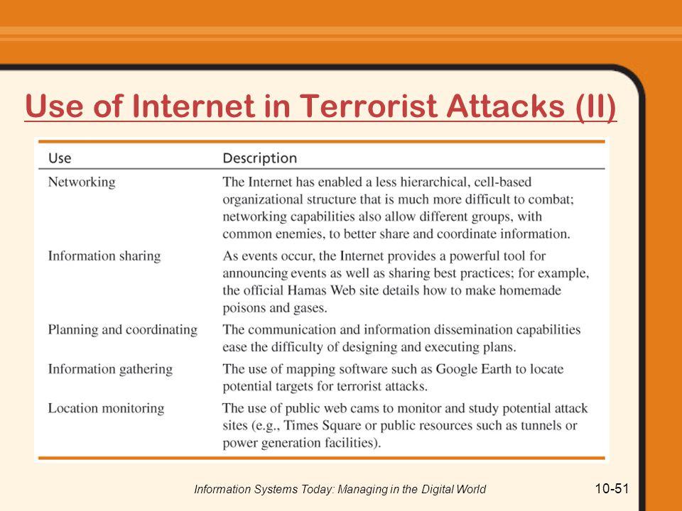 Use of Internet in Terrorist Attacks (II)