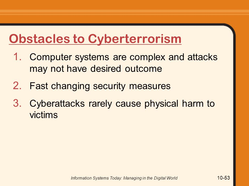 Obstacles to Cyberterrorism