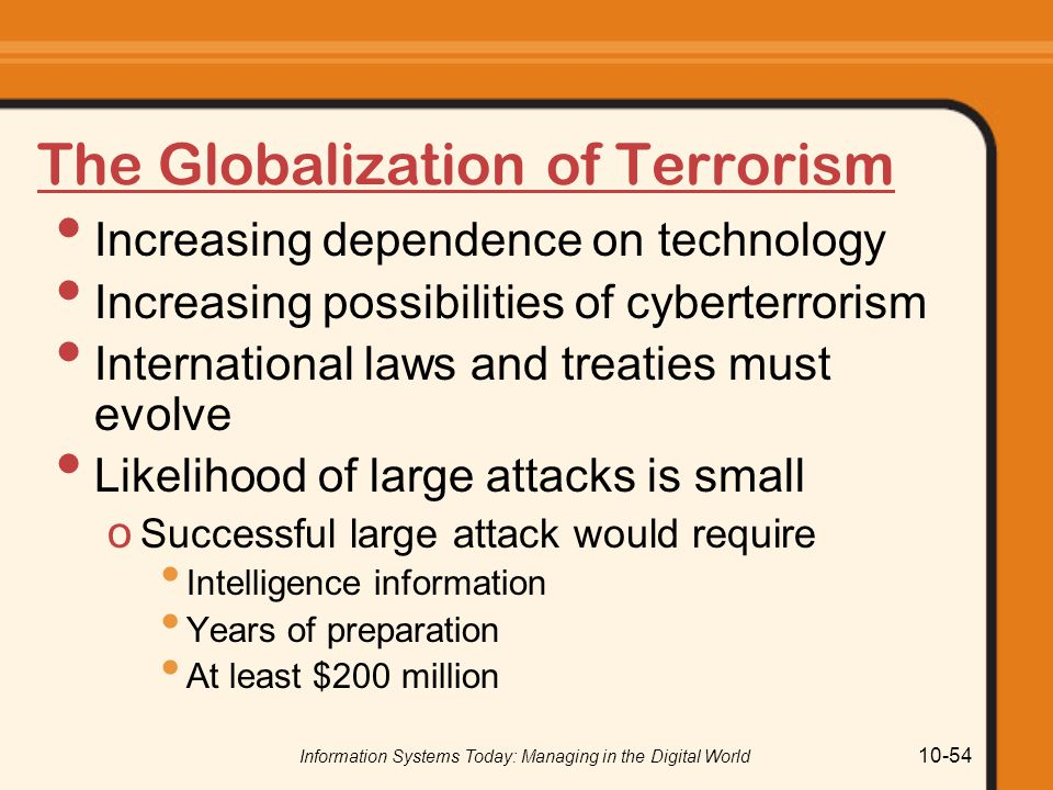 The Globalization of Terrorism