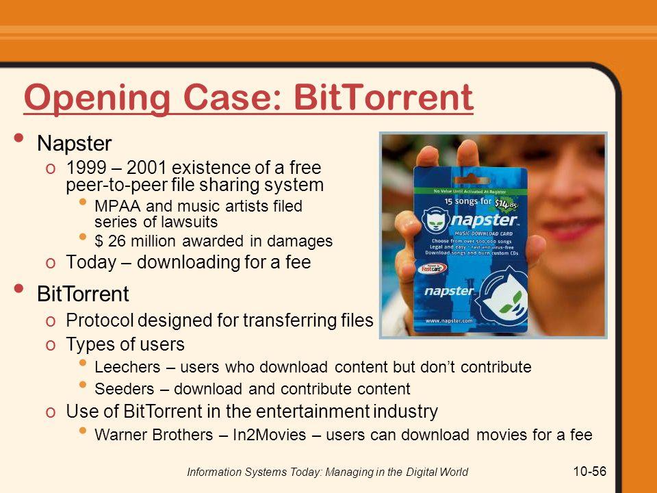 Opening Case: BitTorrent