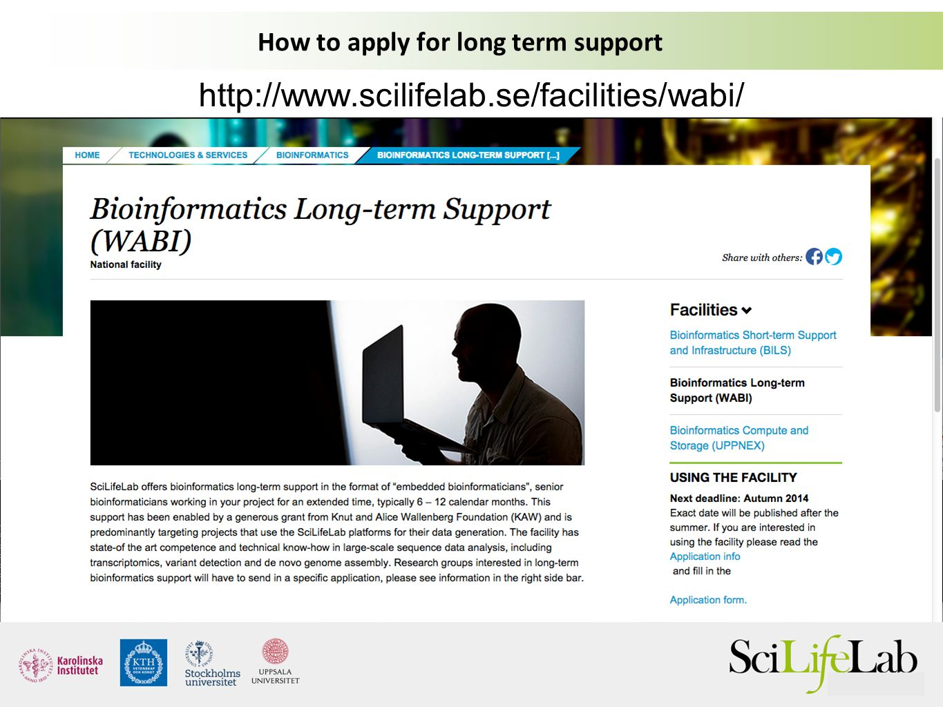 How to apply for long term support