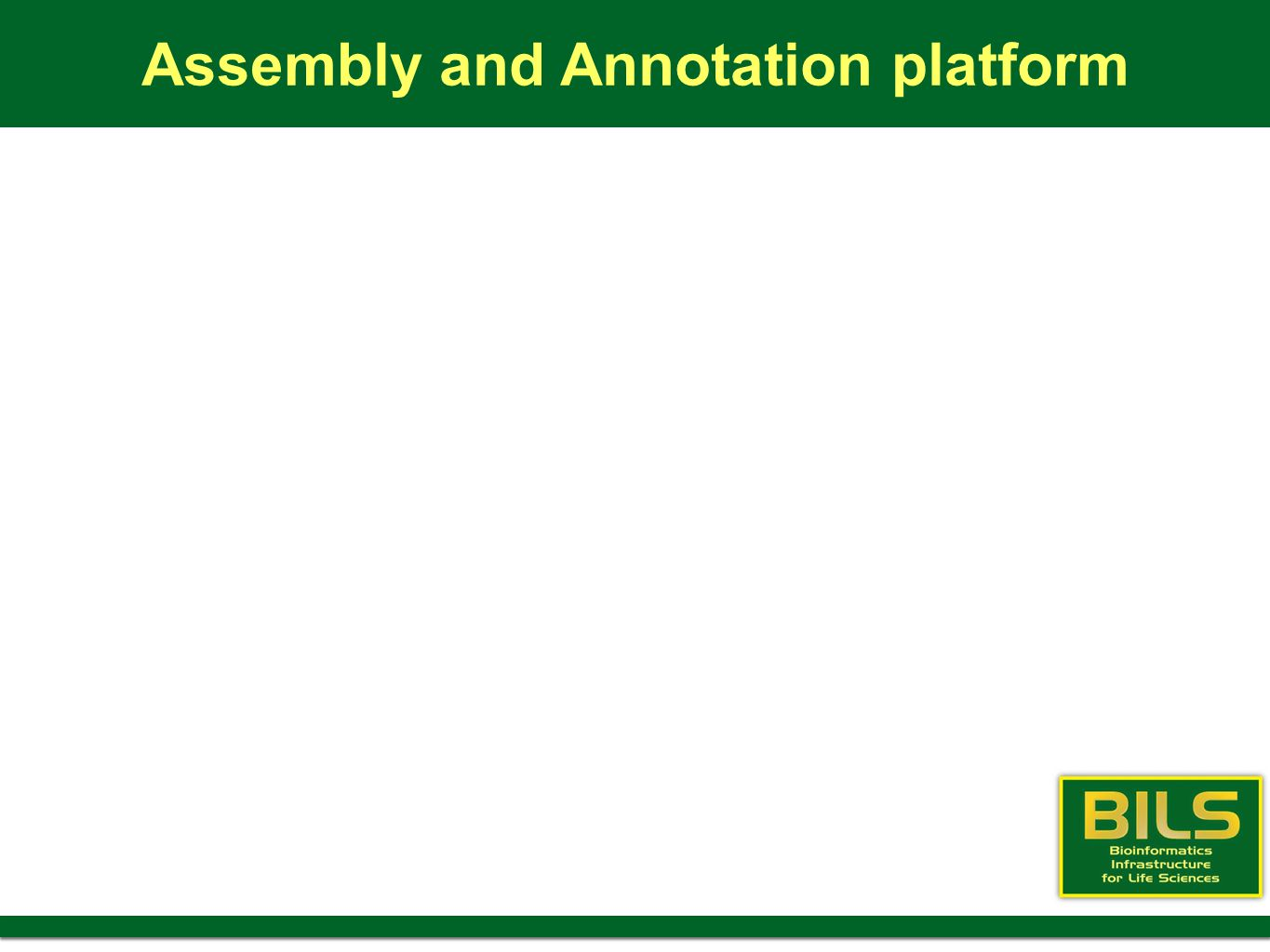 Assembly and Annotation platform