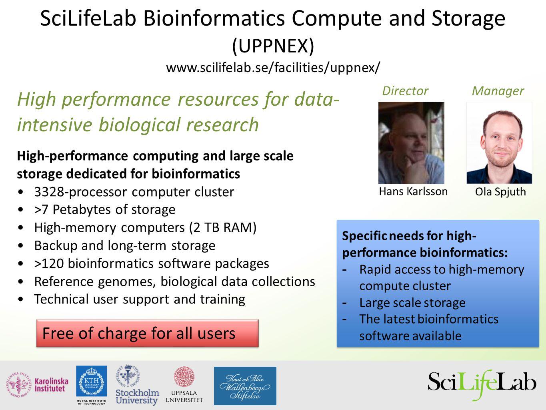 SciLifeLab Bioinformatics Compute and Storage (UPPNEX)