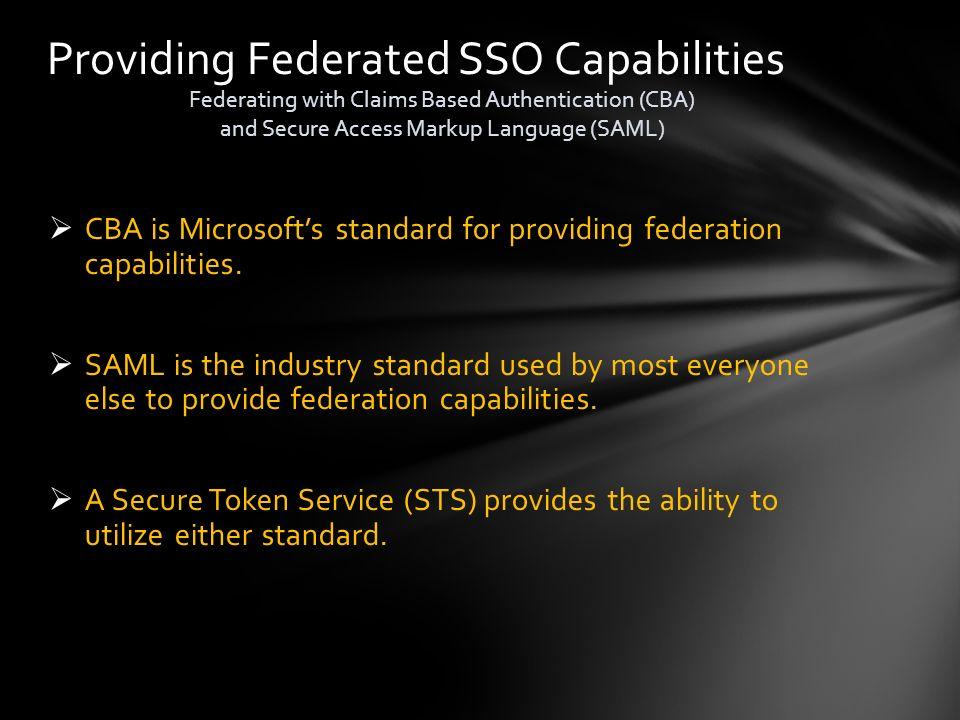 Providing Federated SSO Capabilities