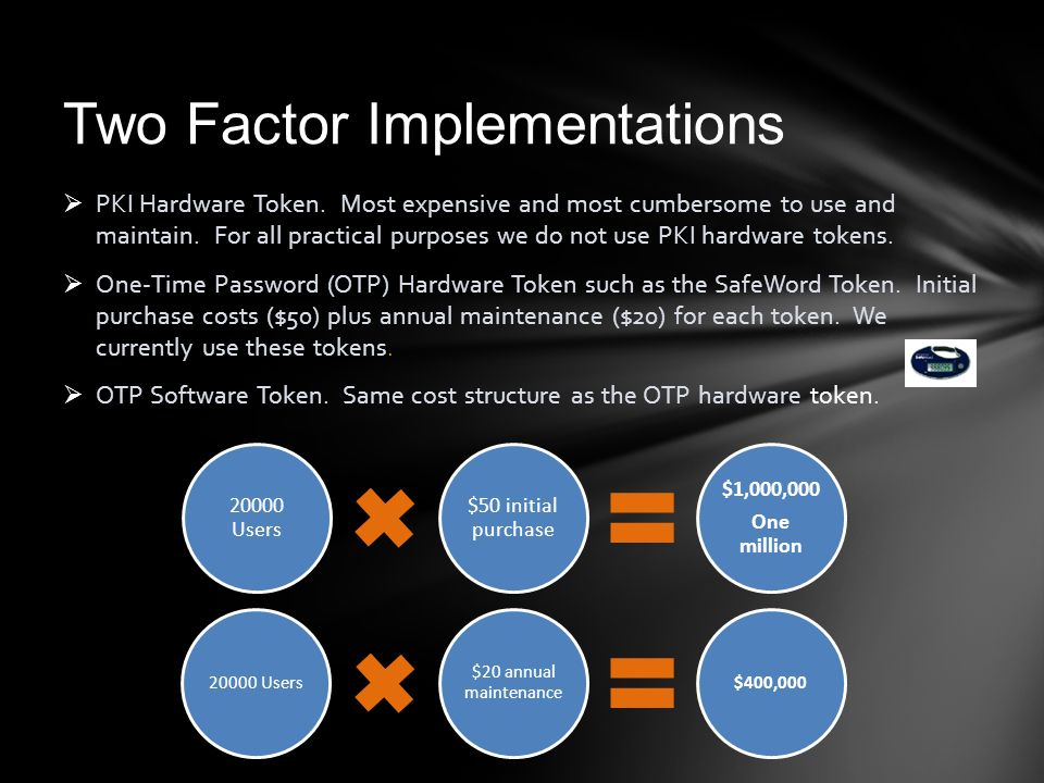 Two Factor Implementations