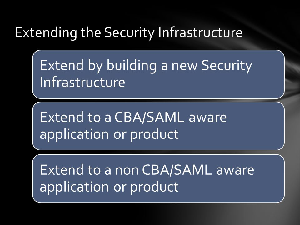 Extending the Security Infrastructure