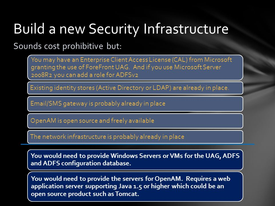 Build a new Security Infrastructure