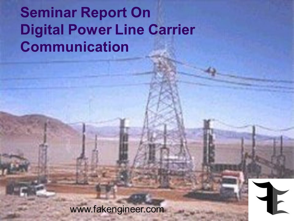 Seminar Report On Digital Power Line Carrier Communication