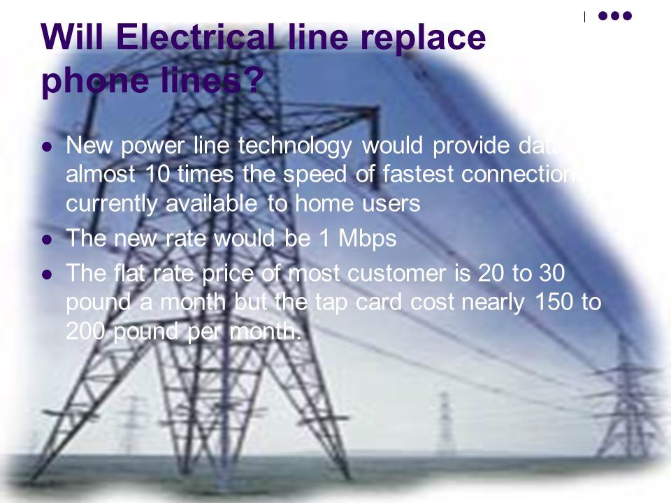 Will Electrical line replace phone lines