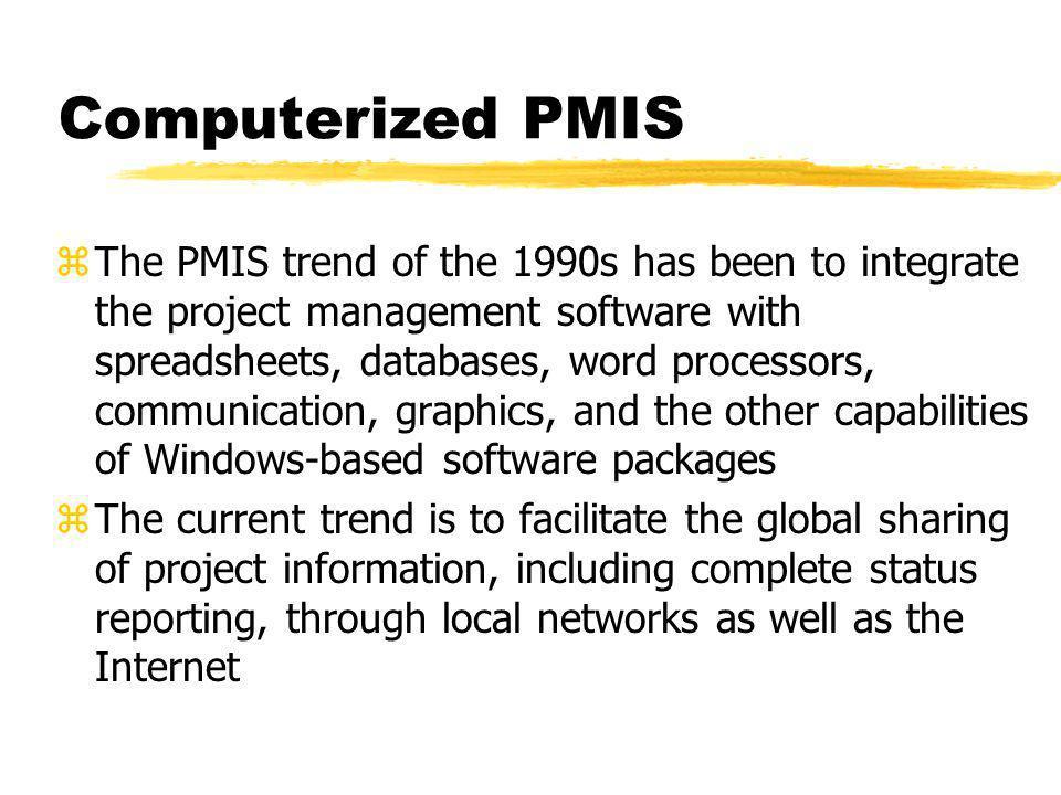 Computerized PMIS