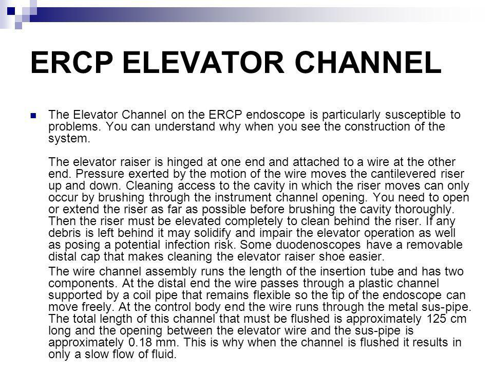 ERCP ELEVATOR CHANNEL