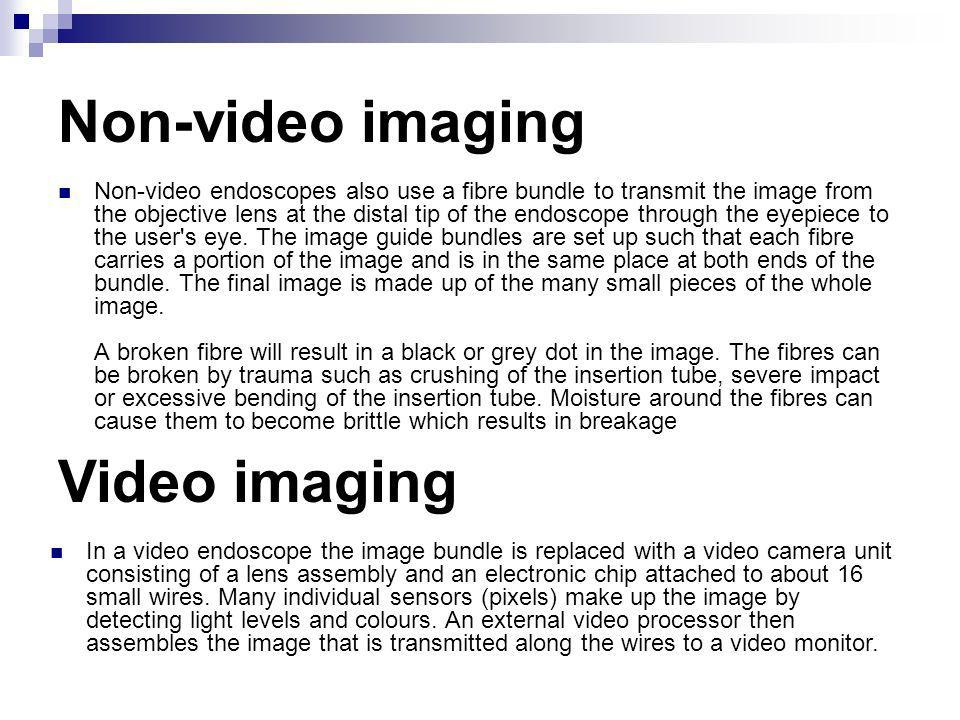 Non-video imaging Video imaging