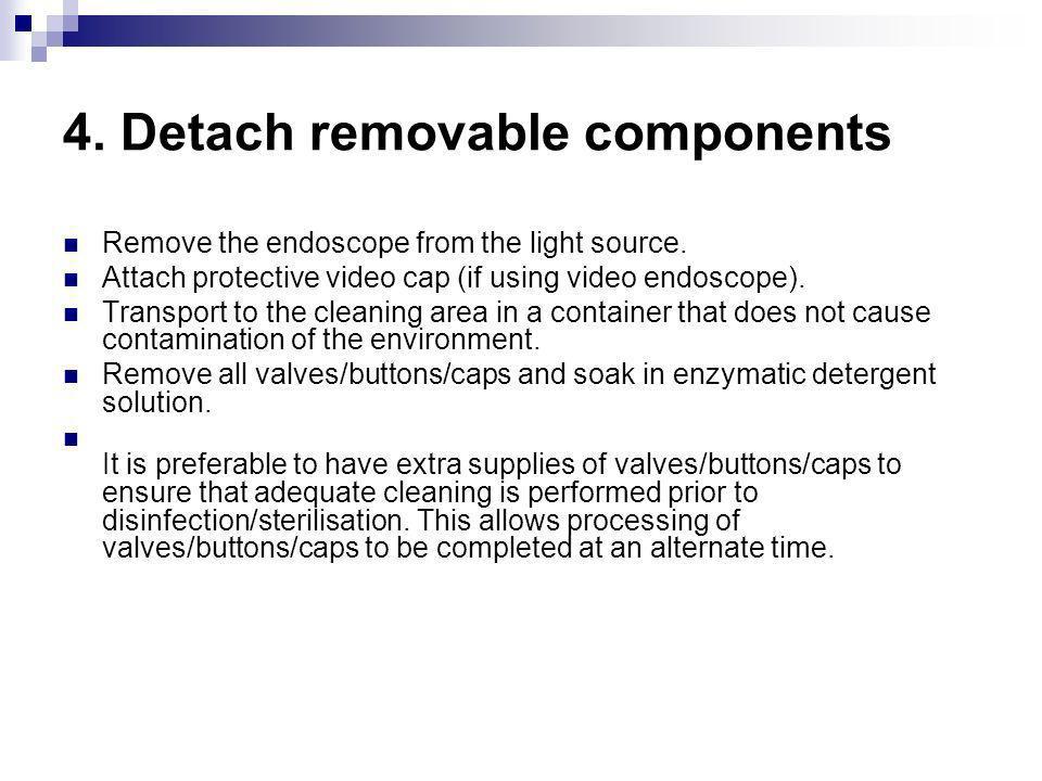 4. Detach removable components