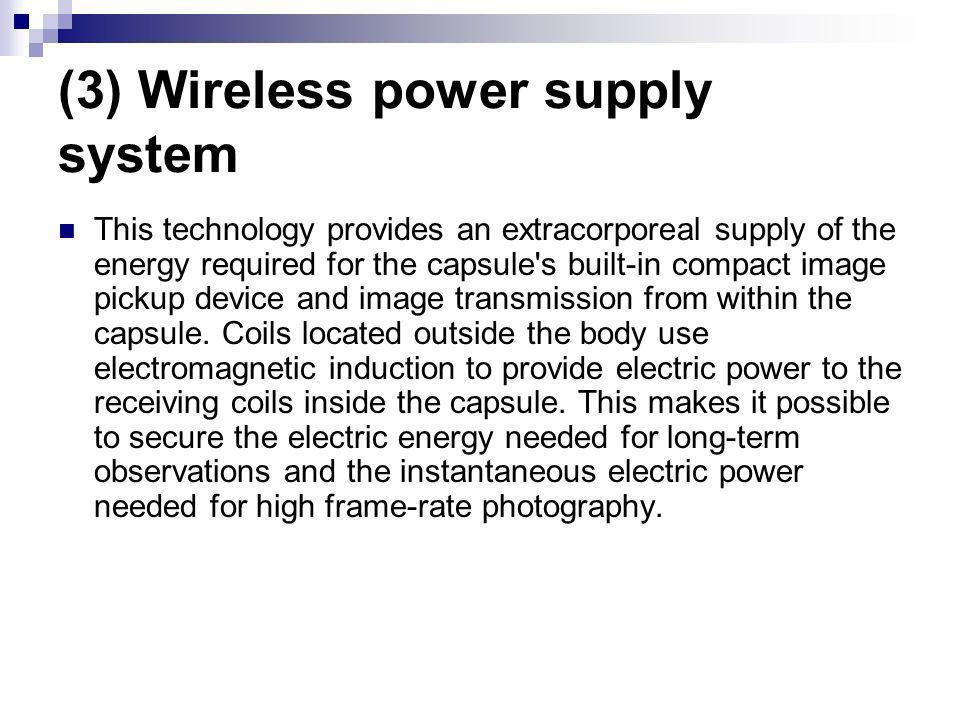 (3) Wireless power supply system
