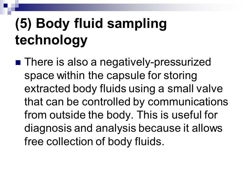 (5) Body fluid sampling technology