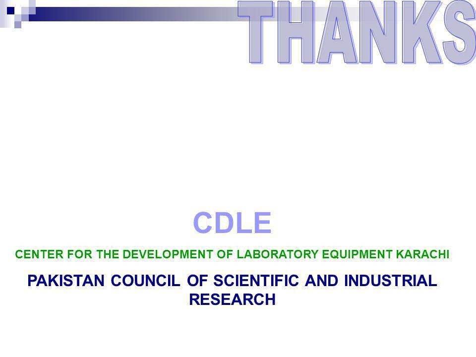 CDLE THANKS PAKISTAN COUNCIL OF SCIENTIFIC AND INDUSTRIAL RESEARCH