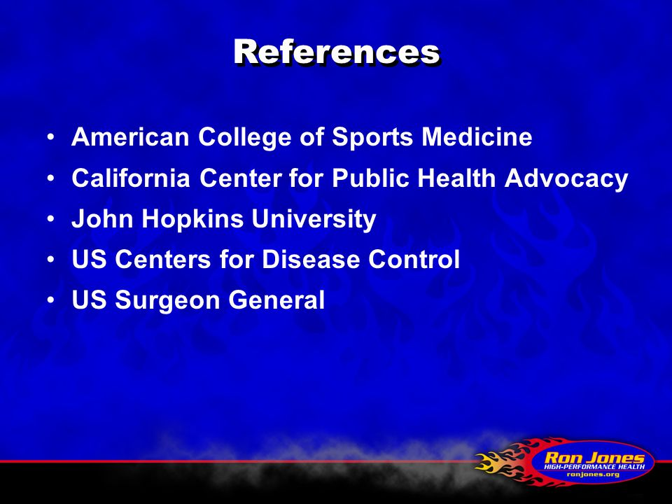 References American College of Sports Medicine