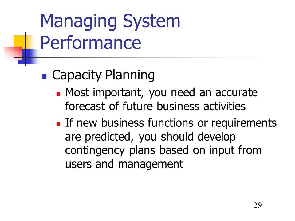 Managing System Performance
